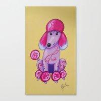 poodle Canvas Prints featuring poodle by K.ForstnerArt