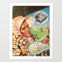 the chick or the drefting tabla Art Print