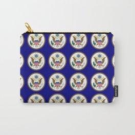 seal of usa-america,usa,eagle,patriotic,patriot,united states,seal,insignia,E pluribus unum,us Carry-All Pouch