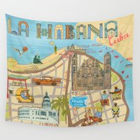 cuba Wall Tapestries featuring Cuba by Sahily Tallet Yip