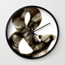 Circularized Reasoning (Rock on Wood) Wall Clock