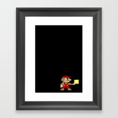 mario 8 bit Framed Art Print