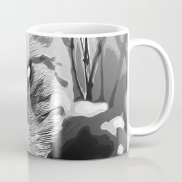 set your cat free vector art black white Coffee Mug