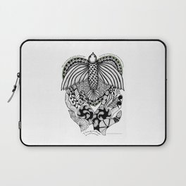 This goodbye is not forever Sympathy  - Zentangle Illustration Laptop Sleeve