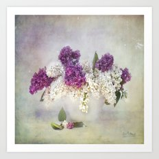still life with lilac Art Print