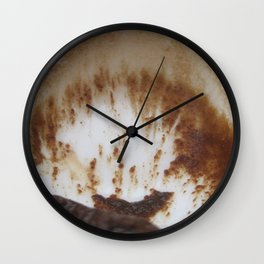 Ocean and boat and sand storm Wall Clock