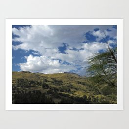 Highlands Andes Art Print