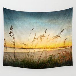 Ocean Springs Beach and Sea Oats Wall Tapestry