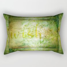 Wish Dandelion Art Rectangular Pillow
