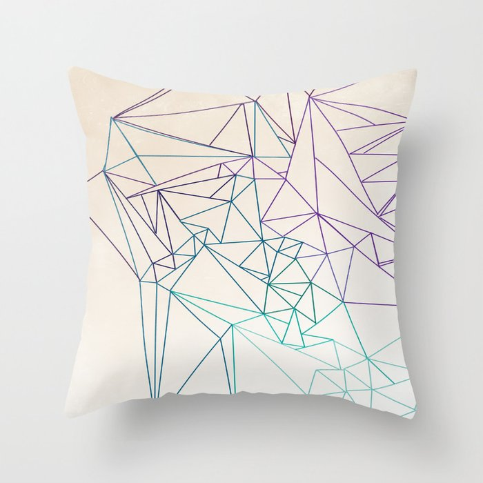 Between the Lines Throw Pillow