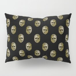 Venetian Mask Motif Pattern Pillow Sham