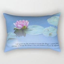 Serenity Prayer Pink Water Lily Rectangular Pillow