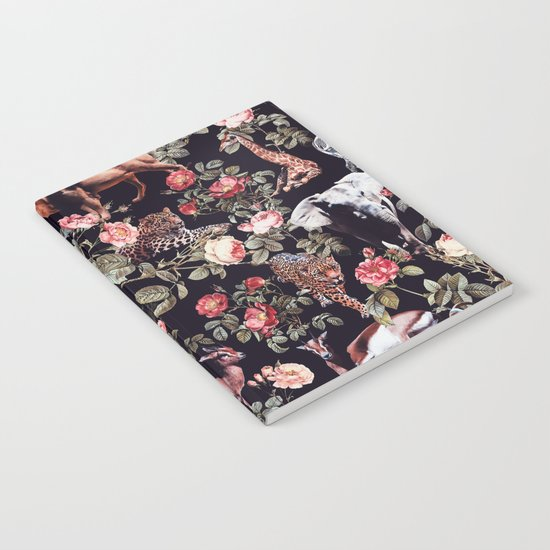 Animals and Floral Pattern Notebook