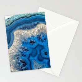 blue green agate slice Stationery Cards