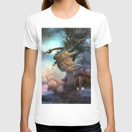Awesome flying eagle T-shirt