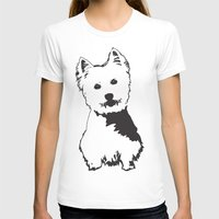 westie T-shirts featuring Westie Westhighland Terrier artwork by MONOFACES