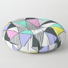 Triangles and PastelsTria Floor Pillow