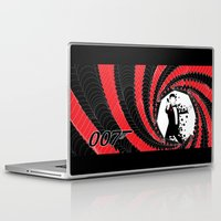 james bond Laptop & iPad Skins featuring James Bond Casino Royale by Kozmanaut