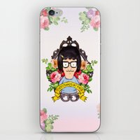 tina crespo iPhone & iPod Skins featuring Tina - Everything's ok face  by Sara Eshak