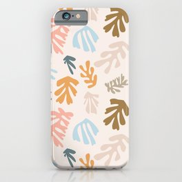 Seaweeds and sand iPhone Case
