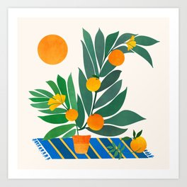 Summer's End With Oranges Art Print