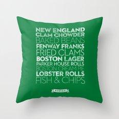 Boston — Delicious City Prints Throw Pillow