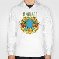 hawaii Hoodies featuring Hawaii by Renee Ciufo