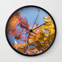 Autumn Abstract Wall Clock