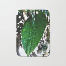 Bright Green Leaf Bath Mat
