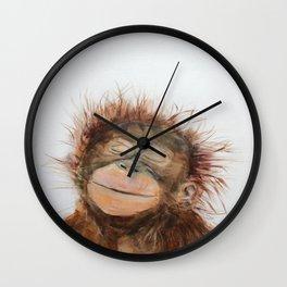 Cute Orangutan Wall Clock