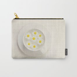 A White Flower In A White Cup, Spring Vibes, Romantic Image, Chrysanthemum Carry-All Pouch