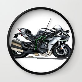 The Supercharged Kawasaki Ninja H2 Hypersport Bike Wall Clock