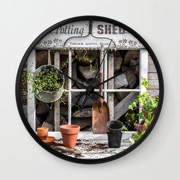 Potting Shed At Work Wall Clock