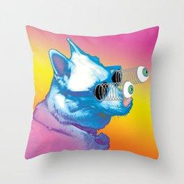 Jeffy the Springy Eyed Husky Throw Pillow