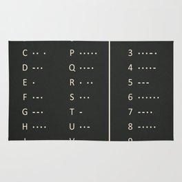 American Morse Code Rug