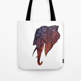 Zentangle Sunset Elephant Tote Bag