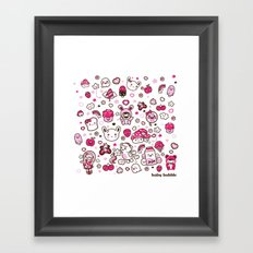 Kawaii Friends Framed Art Print