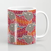 pisces Mugs featuring PISCES by Wagner Campelo