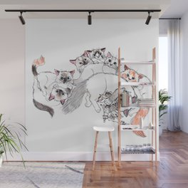Cats Family Portrait Wall Mural