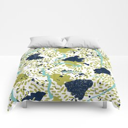 Trenton - modern minimal abstract painterly palette urban brooklyn cali city beach painting dorm  Comforters