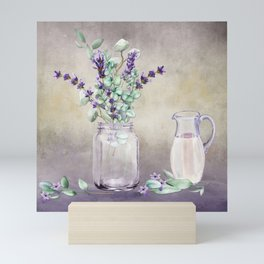 Country Lavender and Eucalyptus Mini Art Print
