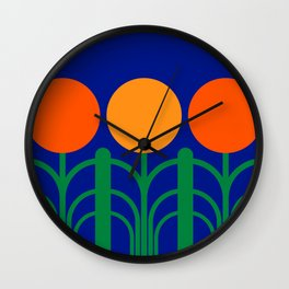 June Bloom Wall Clock