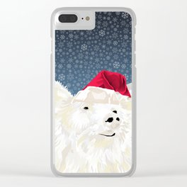 Beary Merry Christmas Clear iPhone Case