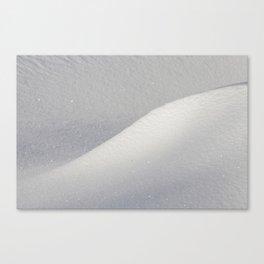 Deep snow drifts Canvas Print
