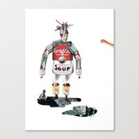knight Canvas Prints featuring knight by swinx