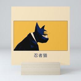 Neko ninja 3 Mini Art Print