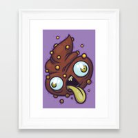 poop Framed Art Prints featuring Poop by Artistic Dyslexia