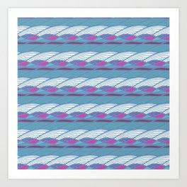 Waves Pattern III Art Print