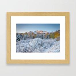 COLORADO MOUNTAIN SUNRISE PHOTO - TELLURIDE - AUTUMN IMAGE - NATURE PICTURE - LANDSCAPE PHOTOGRAPHY Framed Art Print