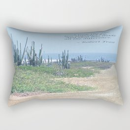 The Road Less Traveled (with quote) Rectangular Pillow